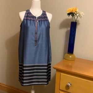 LOFT Sleeveless Striped Dress - Size Small